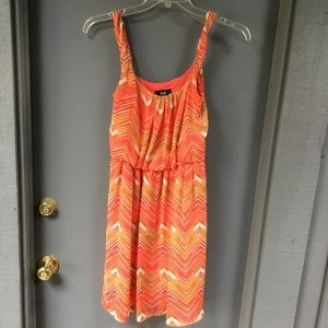 AGB orange sundress with elastic waist